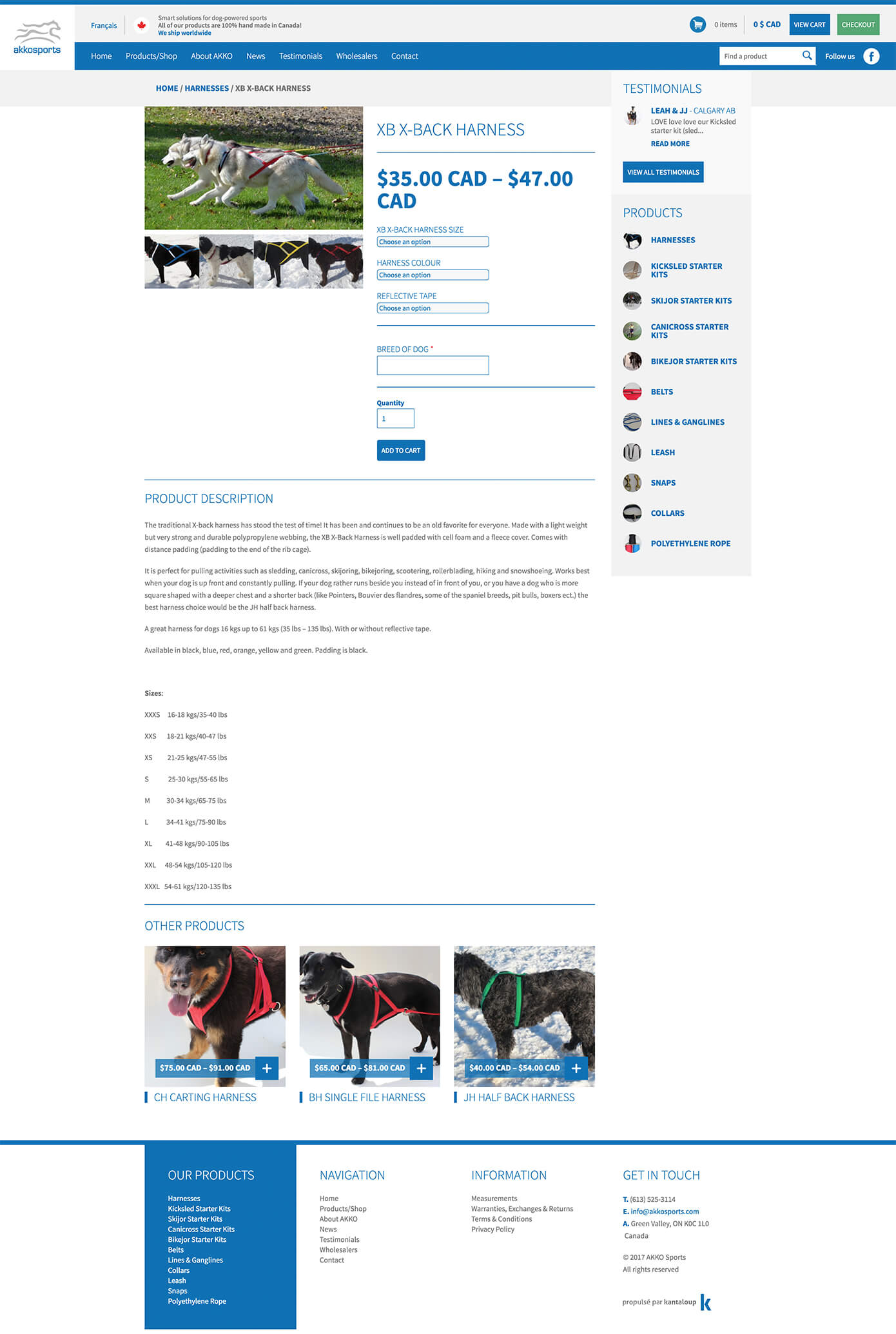 Screenshot of a page on AKKO Sports