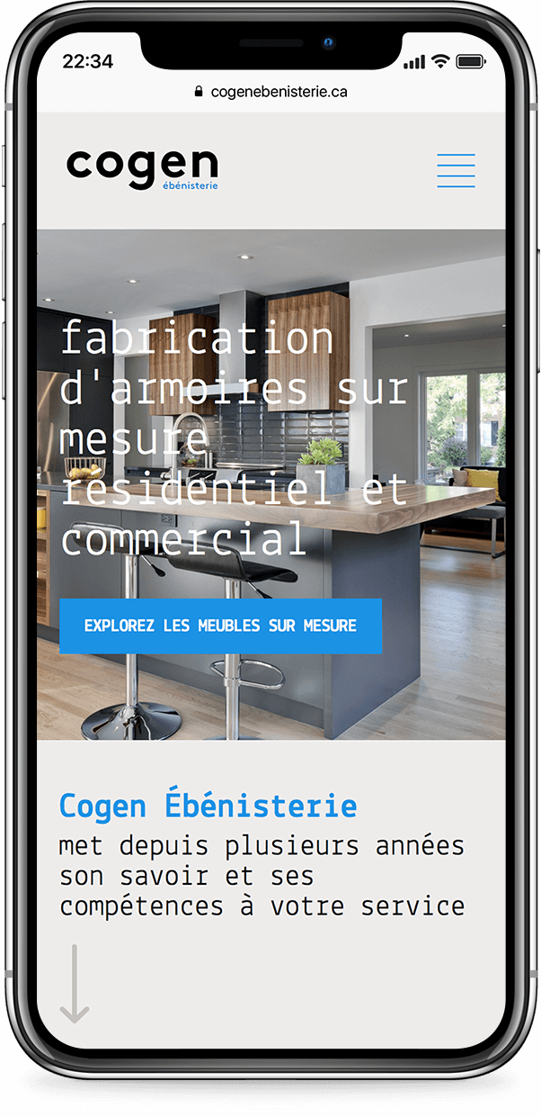 Mobile example for cogen-ebenisterie