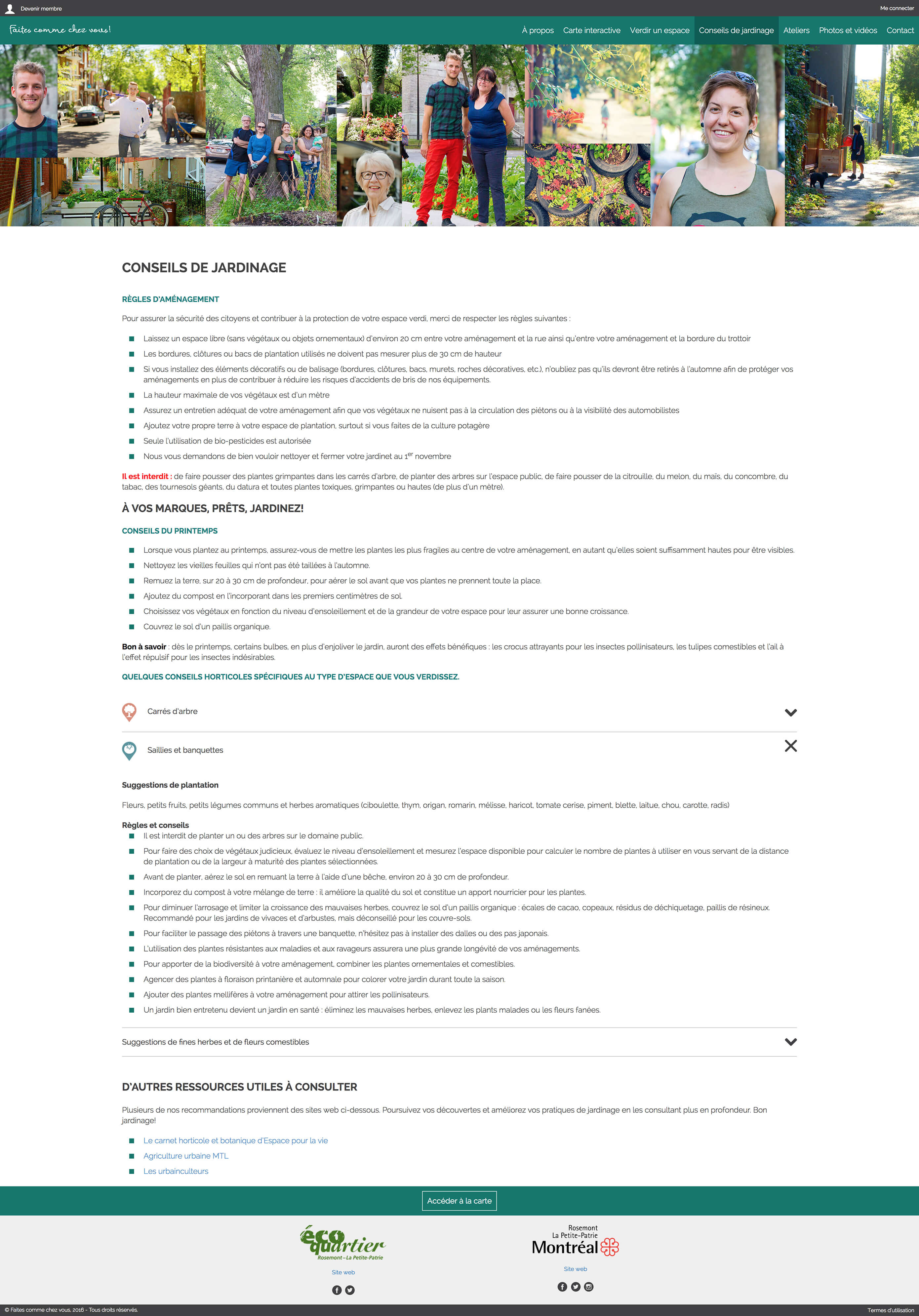 Screenshot of a page on Faites comme chez vous!