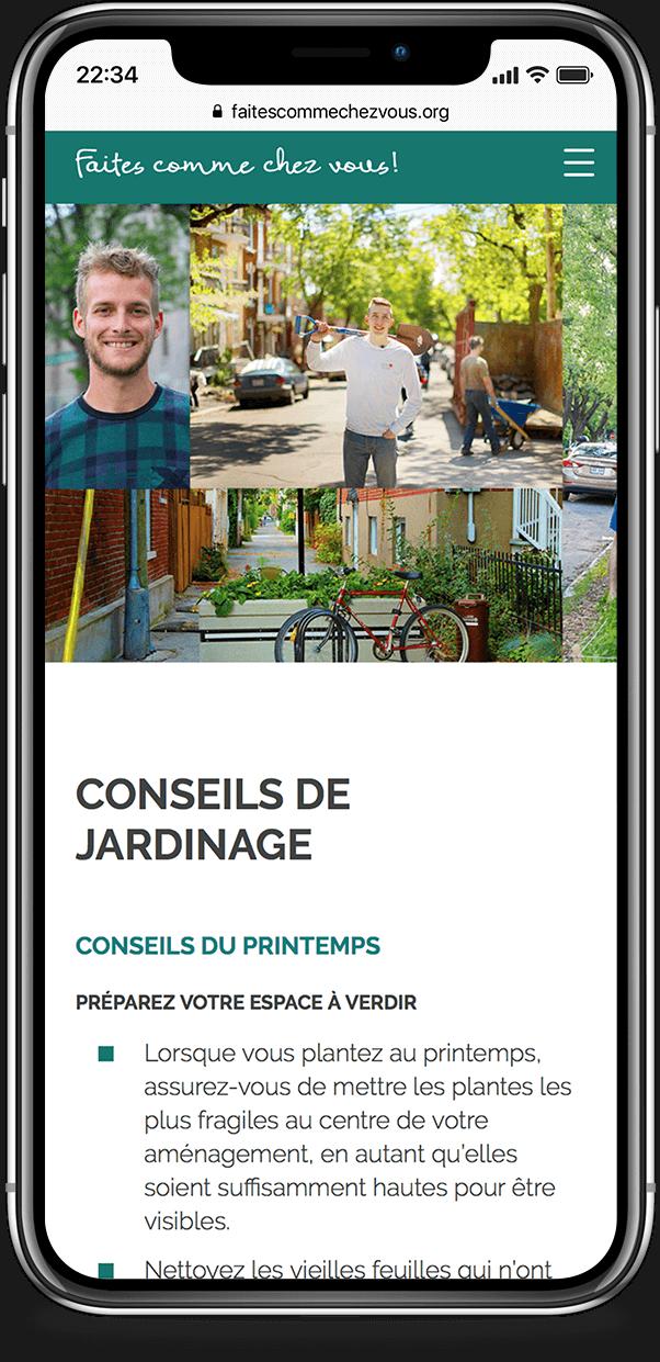 Mobile example for faites-comme-chez-vous