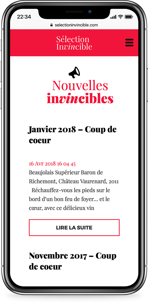 Mobile example for selection-invincible