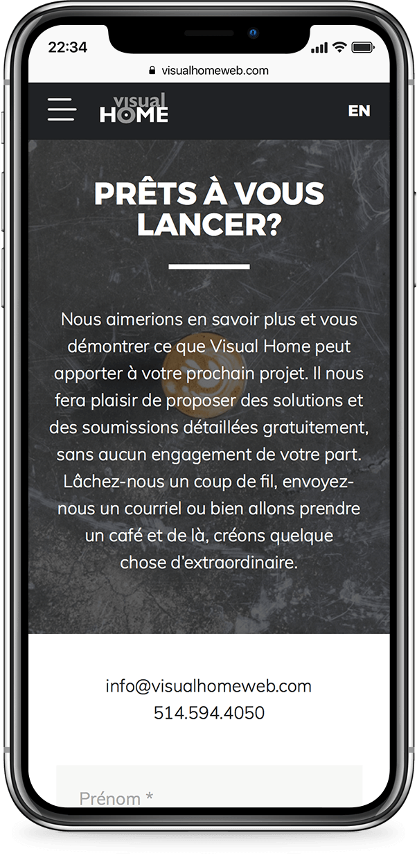 Exemple mobile de visual-home