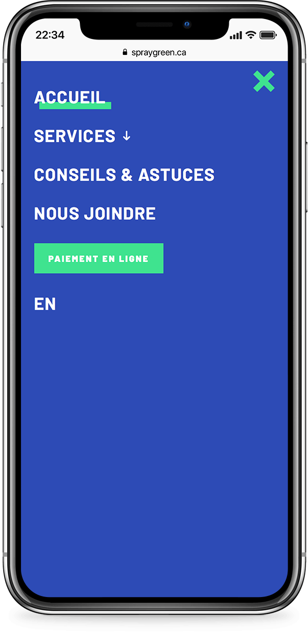 Exemple mobile de spray-green